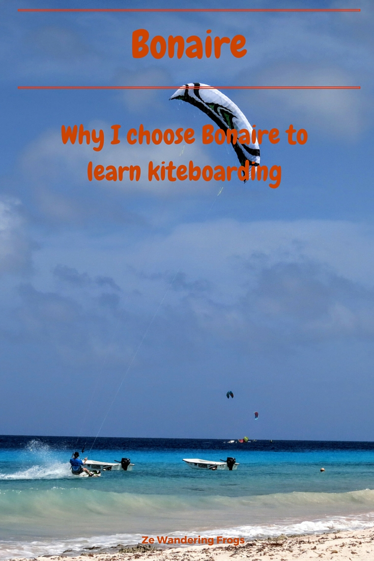 Why I chose Bonaire to learn how to kitesurf // A popular diving destination, Bonaire also offers constant winds that make it a great windsurf and kiteboard destination. Since the whole island is a marine park, kitesurfing is restricted to a specific area, Atlantis Beach, but thanks to its remote location, the spot is barely busy, at least not by Delta standard – a busy weekend will see 10 kiters on the water, plenty space for everyone.