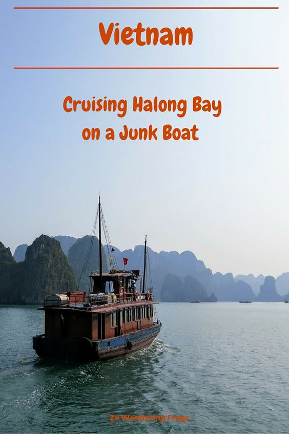 Cruising Halong Bay on a Junk Boat // One of the most recognizable natural places in the world, Halong Bay's unique karst formations had a mystic appeal to us. The scenery of Halong Bay filled our mind, from historical events to contemporary movies. Cruising on Halong Bay was a must-do during our Vietnam trip and happened to be by far the best way to discover this UNESCO World Heritage site.
