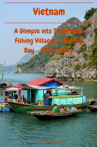 A Glimpse into Traditional Fishing Villages in Halong Bay – Photo Essay // Famous for its unique landscape, Halong Bay is also home to roughly 1,400 people spread among 400 families. We were eager to discover these traditional villages, to get a chance to get a sense of the Vietnamese way of life within the bay