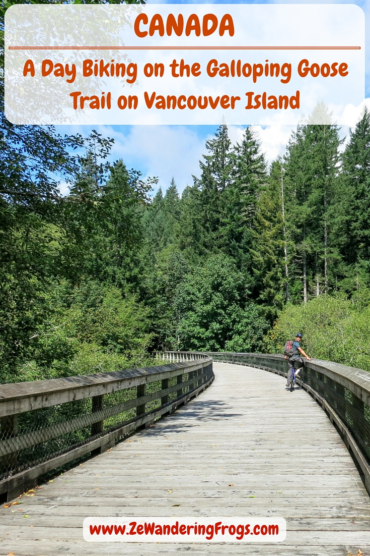 A Day Biking on the Galloping Goose Trail on Vancouver Island // A short 30-minute drive from Victoria, we biked the Galloping Goose Trail & discovered a great corner of Vancouver Island: lakes, wooden bridges, potholes & forests.